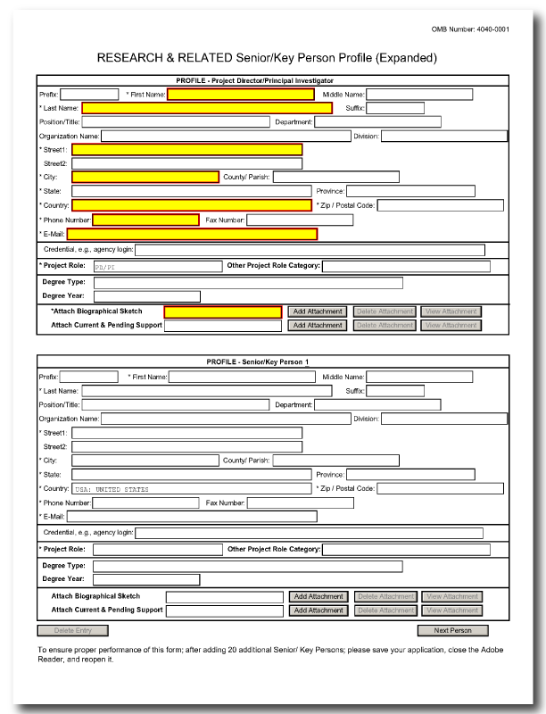 G 240 R R Senior Key Person Profile Expanded Form