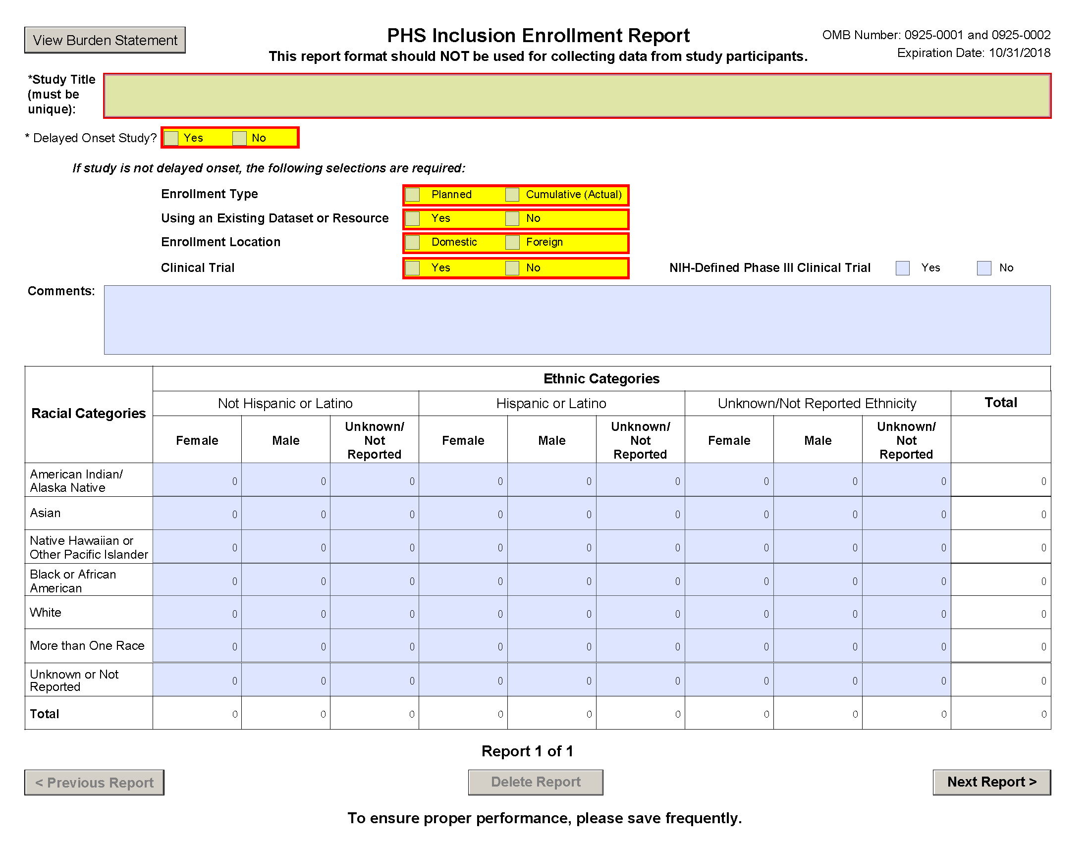 G.500   PHS Inclusion Enrollment Report  Enrollment Form Format