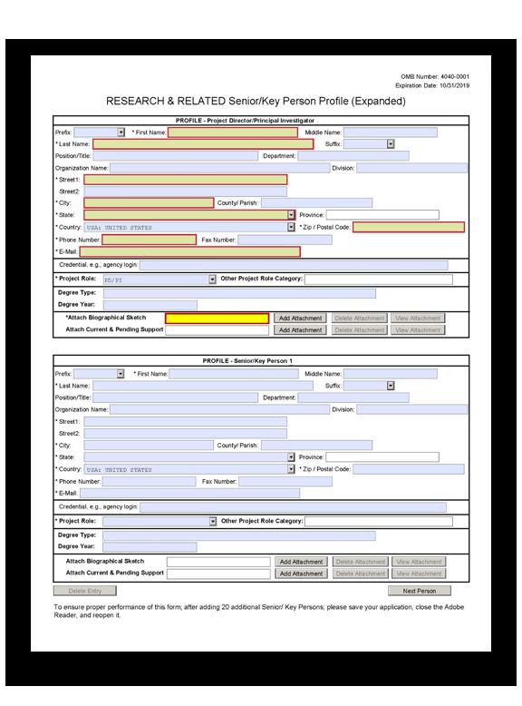 G 240 R R Senior Key Person Profile Expanded Form