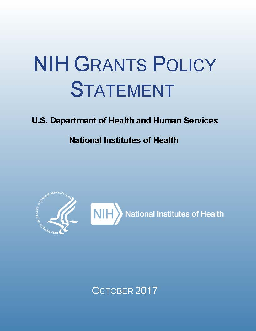 Nih grants policy statement grantsh nih grants policy statement oct 2017 html pdf thecheapjerseys Image collections