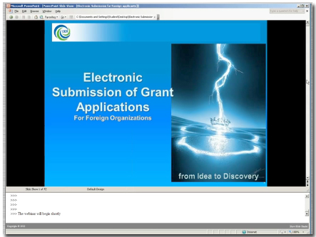 Electronic Submission of Grant Applications