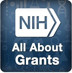 Logo for NIH's All About Grants Podcast