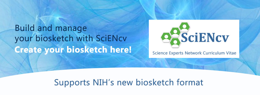 Build and Manage your biosketch with SciENcv