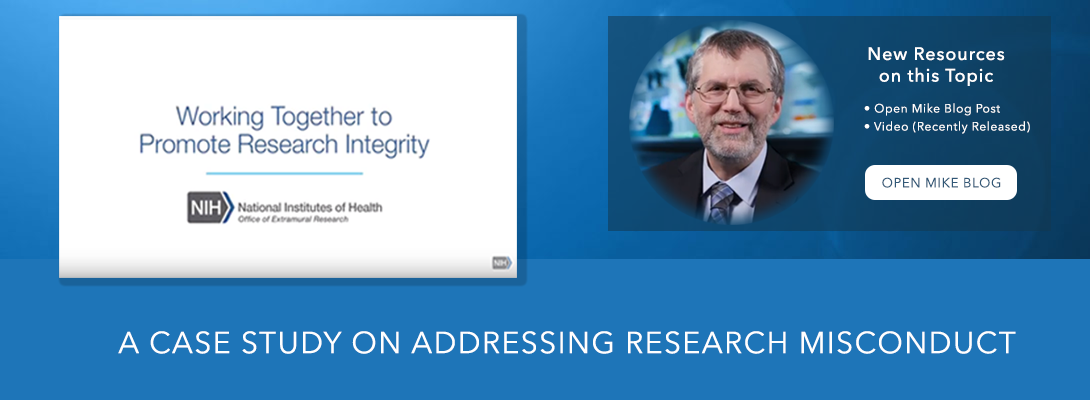 Research Integrity banner with Mike Lauer