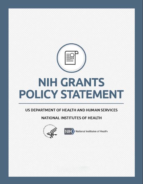 NIH Grants Policy Statement | grants nih gov